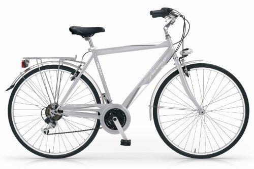 Mbm - Touring Bicyclette Vélo Homme 28'' 18S H50 Trekking City Bike Argent