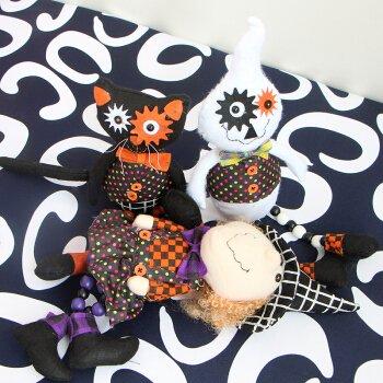 lpaper Halloween Nacht Hexe Plüsch Spielzeug Puppe gestaltet Weihnachtsverzierungen white Ghost black cat Geschenk Spielzeug specterof Kürbis (Kürbisse Halloween Wallpaper)