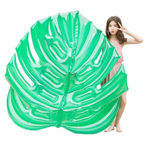Erwachsene Kinder Riesige aufblasbare Blätter Pool Party Floß Schwimmer mit schnellen Ventilen Sommer Strand Schwimmbäder Party Lounge Floß Dekorationen Spielzeug-180X160CM ()