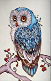YEESAM ART New 5D Diamond Painting Kit - Owl - DIY Crystals Diamond Rhinestone Painting Pasted Paint by Number Kits Cross Stitch Embroidery