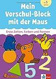 Mein Vorschul-Block mit der Maus; Erste Zahlen, Farben und Formen