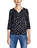 CECIL Damen 313730 Felia T-Shirt, Mehrfarbig (deep blue 30128), Large (Herstellergröße:L)