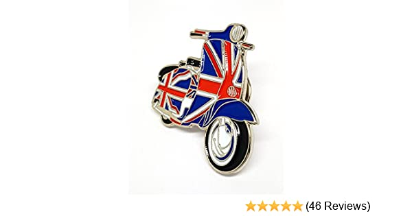 GB Great Britain Union Jack Flag Scooter Metal Keyring Enamel MOD Scooterist NEW