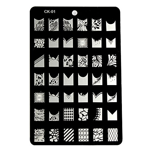 XLORDX New Nail art Plates Image Stamping Manicure Plaque de Tampons Vernis Timbre CK01