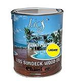 Olio impregnante NEUTRO per il trattamento di superfici in legno da esterno IPE, decking, bordi piscine, terrazze, camminamenti, infissi, gazebo, staccionate e tettoie. Chimiver - LIOS SUNDECK WOOD OIL LIGHT | Latta da 1L.