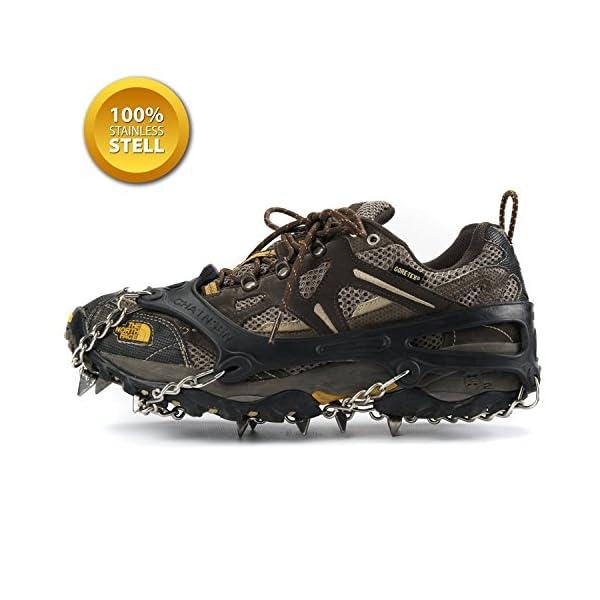 SehrGo Unisex multifunción alfombrilla antideslizante para botas de suela de clavijas hielo Grips tracción crampones cadena Spike 1 par 3