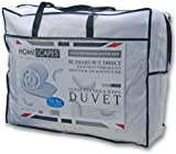 Homescapes - Luxury White Goose Feather & Down Duvet - 13.5 Tog King Size - 100% Cotton Anti Dust Mite & Down Proof Fabric - Anti allergen - Box Baffle Construction - Washable at Home