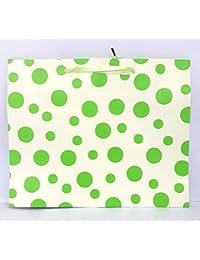 Green Polka Dot Paper Bags (Pack Of 12) Size: Medium