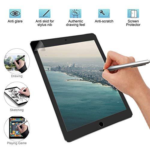 Papier Ähnlicher Bildschirmschutz Mattes Bildschirmschutz-Zeichenpapier für iPad 9.7 Zoll, kompatibel mit Bleistift und Gesichtserkennung