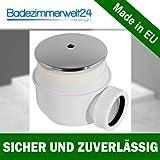 Ablaufgarnitur/Ablauf 52mm Dusche Siphon Duschtasse Duschwanne ABS Abdeckplatte in chrom