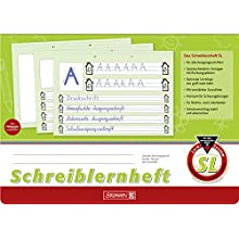Brunnen 1044040 SL learning to write booklet (A4, landscape, 16 pages, SL line style)