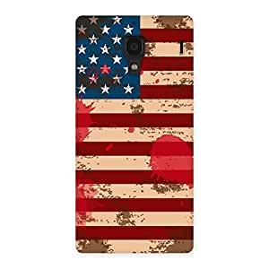 Impressive Grunge USA Flag Multicolor Back Case Cover for Redmi 1S