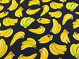 Bananen Kleid Stoff-Baumwolle-111,8cm (110cm)