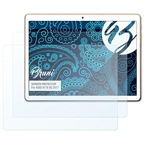 Bruni Schutzfolie für XIDO X110 3G 2017 Folie, glasklare Displayschutzfolie (2X)
