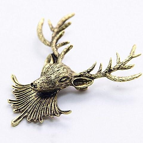 3pour 2vente. or Broche motif cerf broches pour veste ou collier, cadeau unique luxe Accessoires Animaux Fashion