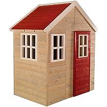 Casa de Juegos de Madera para niños al Aire Libre, jardín, Tipo Cerrado,