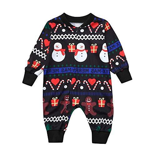 ZHRUI Neugeborene Weihnachts-Outfits, Mode Cartoon Deer Brief Gedruckt -