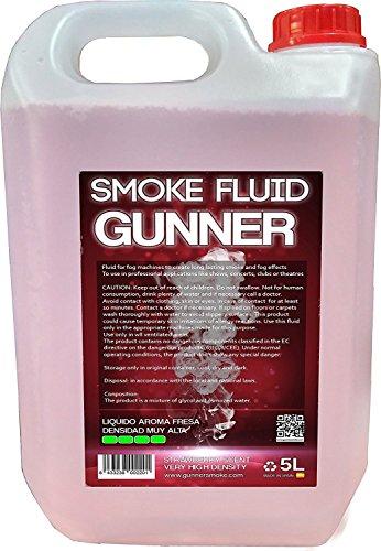 Fumo liquido ad altissima densità. Odore di fragole.