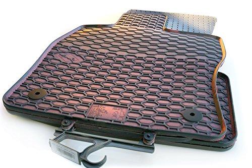 Preisvergleich Produktbild Gummi Automatten Seat Leon 3 (5F) Original Qualität Premium Fußmatten rot