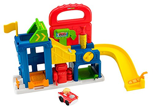 Fisher Price - BFT92 - Véhicule Miniature - Garage - Little People