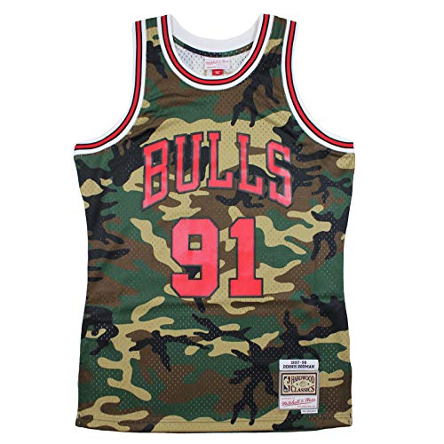the latest 52c0d c856f Mitchell   Ness M N Swingman Jersey Dennis Rodman Chicago Bulls 1997-98 NBA  Trikot camo