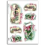 Accademia del Decoupage 32 x 45 cm de papel de arroz para, caja de almacenaje con diseño de flores Vintage