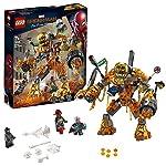 LEGO SuperHeroes MarvelSpider-Man LabattagliadiMolten con Figura da Costruire e Minifigure di Mysterio e pompiere, Ispirato al Film Spiderman:FarFromHome, 76128  LEGO