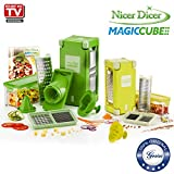 Genius Nicer Dicer Magic Cube Incluye Nicer Dicer Magic Cube Gourmet | 21 piezas | Cortador de...