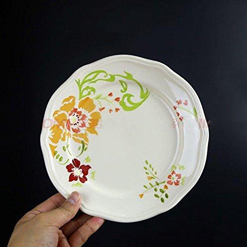 MEICHEN Decorazione di fiore giardino arredamento casa cucina creativa in ceramica cibo piatto piatto ristorante (Compleanno Speciale Piastra)