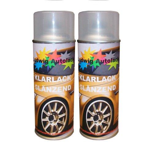 Bote de Spray de 2transparente barniz brillante Auto 400ml