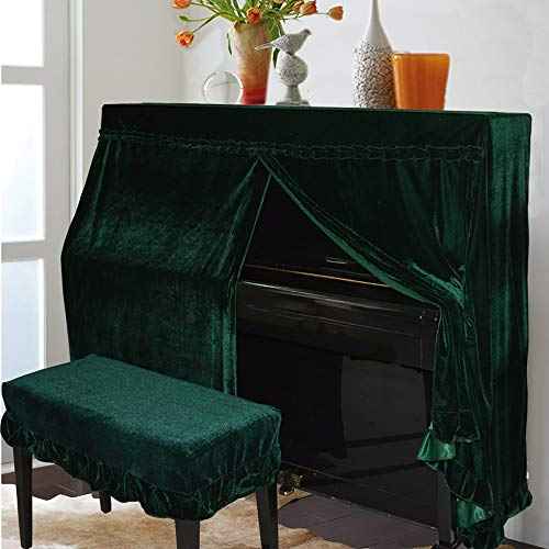 ano Cover Volle Deckung Semi-European Piano Cover Halbe Deckung Staubschutztuch ( Color : Green , Size : Piano Cover L-Stool Cover ) ()