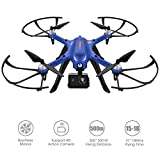 Drocon blu Bugs 3 Outdoor potente drone con motori brushless reale lungo tempo di lavoro Quadcopter supporto HD Action Camera, BLUE bugs