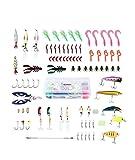 Generic Grub Scissorsrub SC ganci girevoli 106PC da pesca Grub forbici set esche 106PC da pesca S