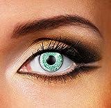 Funky Vision Kontaktlinsen One Tone - 3 Monatslinsen, Green, Ohne Sehstärke, 1 Stück
