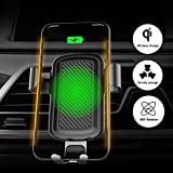 TeslaOwner Qi kabelloses Ladegerät für KFZ-Halterung, 360Grad Rotation, mit automatischer Bewegungsmelder Air Vent Kfz-Halterung für iPhone 8/8Plus/X, Samsung Galaxy S6S7S8Samsung Note 4Note 5