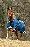 Horseware Rambo Original leg Regendecke oder Winterdecke 140cm 100g Denim Blue, Lime Green & Mustard