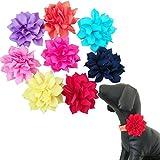 BIPY Hundehalsband Charms Blumen für kleine Hunde Welpen Katze Halsbänder Dekorative Schleife Zubehör 8Stück