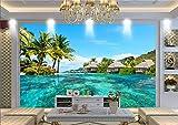 Fototapete Hd Malediven Sea View Foto Wandbild Tapete Räumliche Erweiterung Persönlichkeit Wandbild Tapete Wohnzimmer Hotel, 430 Cm X 300 Cm