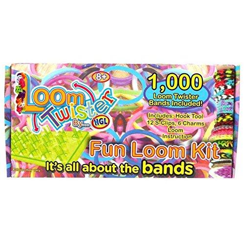 LOOM TWISTER Fun Loom Kit 1000 Set (Twister Loom)