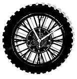Instant Karma Clocks Horloge Murale en Vinyle Disque LP 33 Tours Idée Cadeau Handmade instantanée Karma-Corsa Pista Gara Enduro-Motocross Moto, Vintage, silencieuse