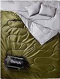 Gorich Doppelschlafsack für Backpacking, Camping oder Wandern. Queen Size XL! Kaltwasser 2 Personen Wasserdichte Schlafsack Für Erwachsene Oder Jugendliche. LKW, Zelt oder Isomatte, leicht …