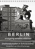B E R L I N - einzigartig schlaflos effektvoll (Tischkalender 2019 DIN A5 hoch): Berliner Stadtlandschaften in Schwarz/Weiss, fotografiert von Silva ... (Monatskalender, 14 Seiten ) (CALVENDO Orte)