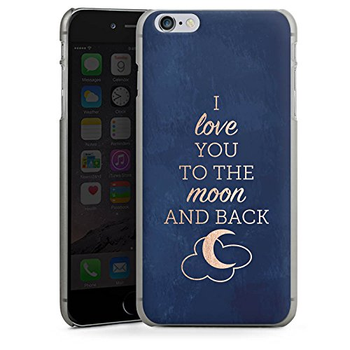 Apple iPhone X Silikon Hülle Case Schutzhülle Sprüche Moon I Love You Love Hard Case anthrazit-klar