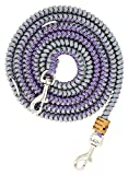 Hundeleine Filu aus Paracord, Acid Purple with White Diamonds and Silver Grey, Handgeflochten, 3 mal Verstellbar, ca. 2 Meter lang, 1 Zentimeter breit