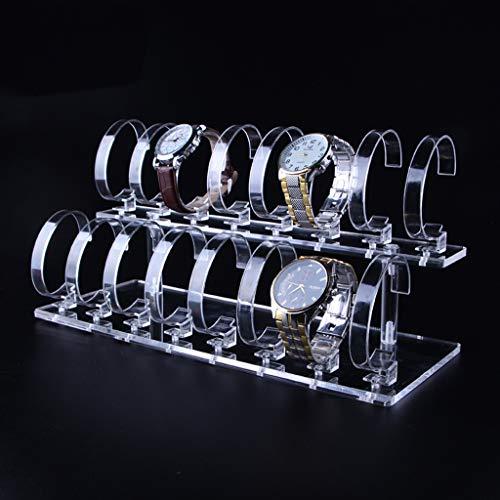 PengShi Schmuckständer für Armbanduhren, Acryl, 2-stöckig durchsichtig -
