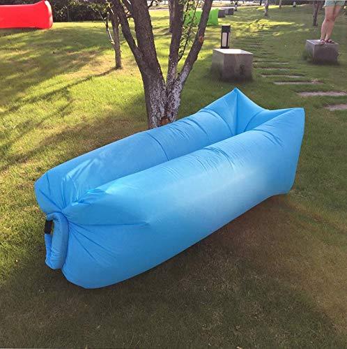 Mindruer Air Sofa Bett, tragbare Lazy Air Lounger Sofa Couch Schlafsack Liege mit Kopfstütze für Urlaub Sonne Baden (hellblau)