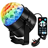 Aomees Disco Ball Party Light Disco Lights Bulb Rotating Sound Activated LED Strobe