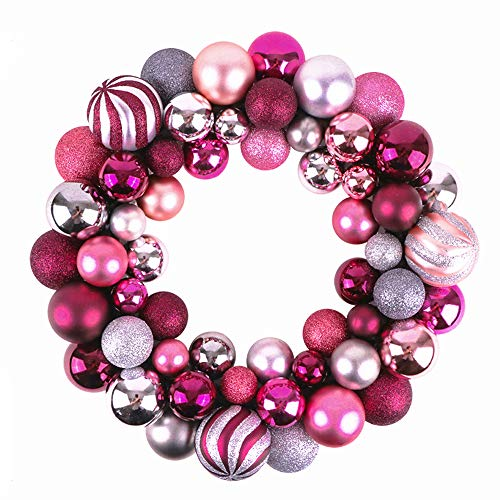 Victor's workshop palline di natale palle di natale ghirlanda natalizia decorazioni natalizie ghirlanda Ø 35 cm palline di natale (rosa & viola)