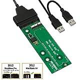 QNINE SSD zu SATA oder USB Adapterkarte für 2012 MacBook Air und Pro Retina mit Kabel, Festplattenkonverter, Support 2012 Jahre Modell A1465 A1466 MD223 MD224 MD231 MD232 MD212 MD213