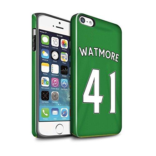 Offiziell Sunderland AFC Hülle / Glanz Harten Stoßfest Case für Apple iPhone 5/5S / Pack 24pcs Muster / SAFC Trikot Away 15/16 Kollektion Watmore